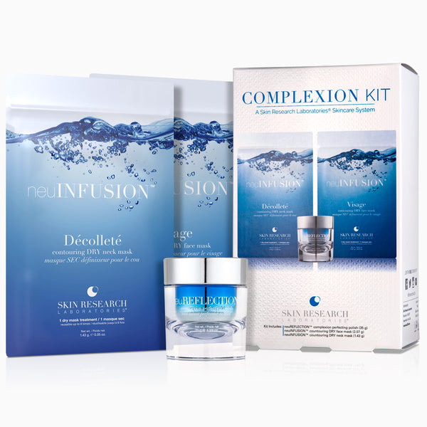 The Complexion Kit with all products out of box; neuINFUSION™, and neuREFLECTION™.