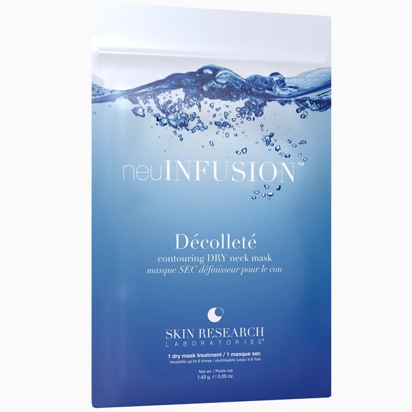 neuINFUSION™ Décolleté (Neck) dry sheet mask packet.