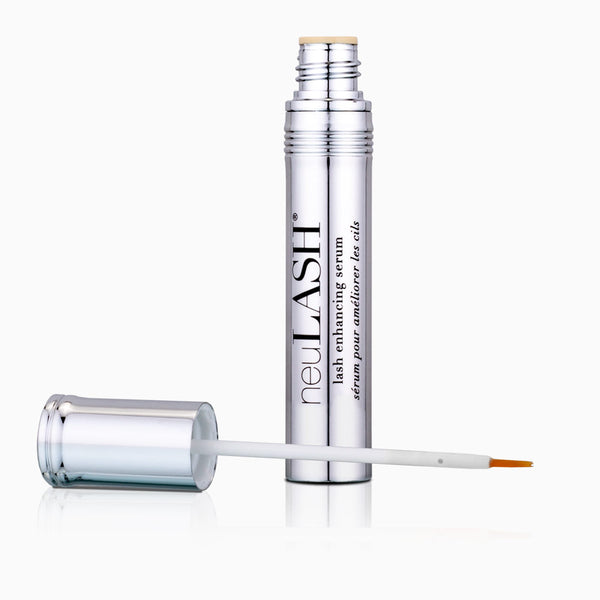 neuLASH® lash enhancing serum component with applicator off, lying next to component