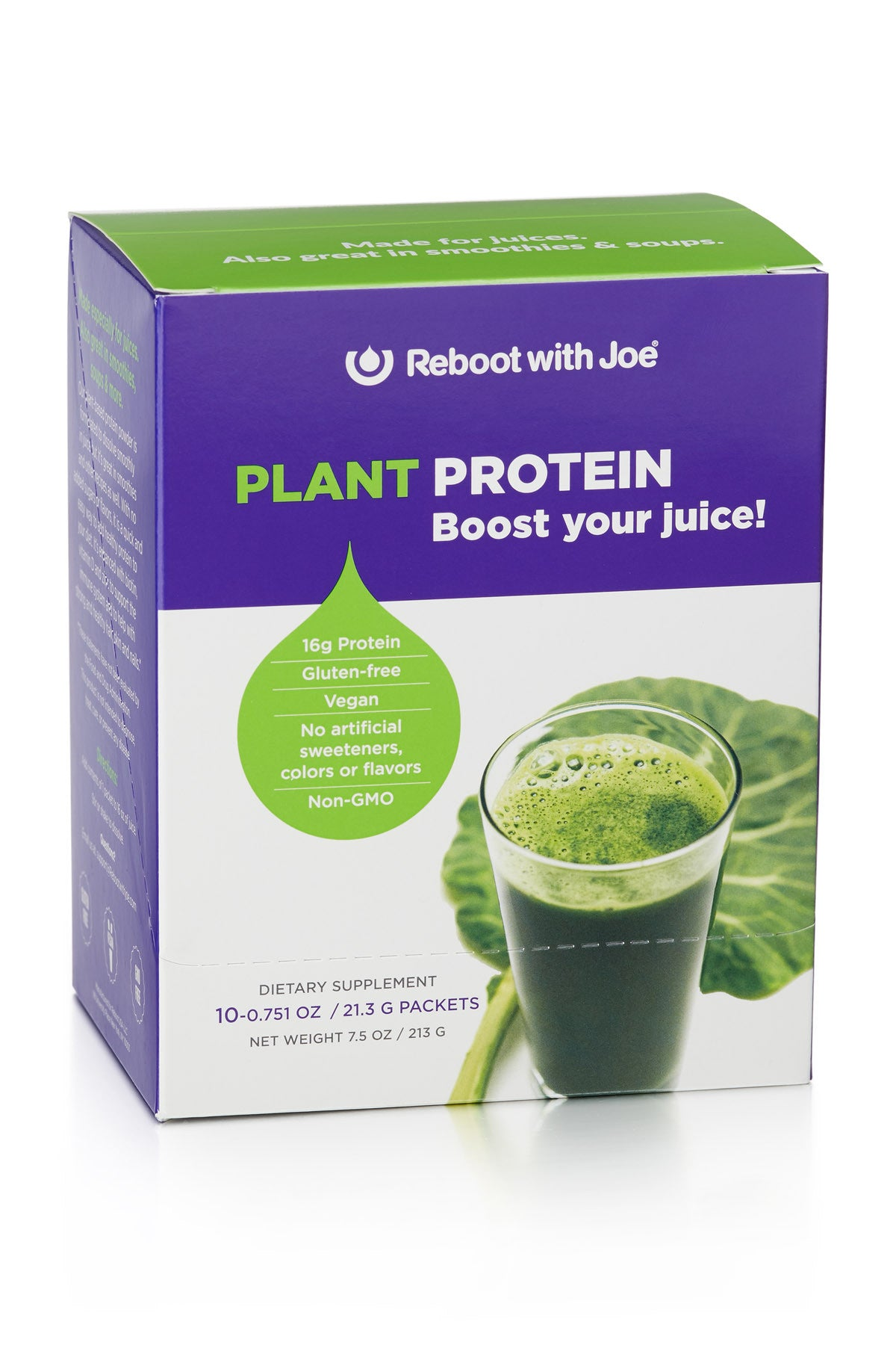 Reboot with Joe Plant Protein Single Serving Packs, Set of 10