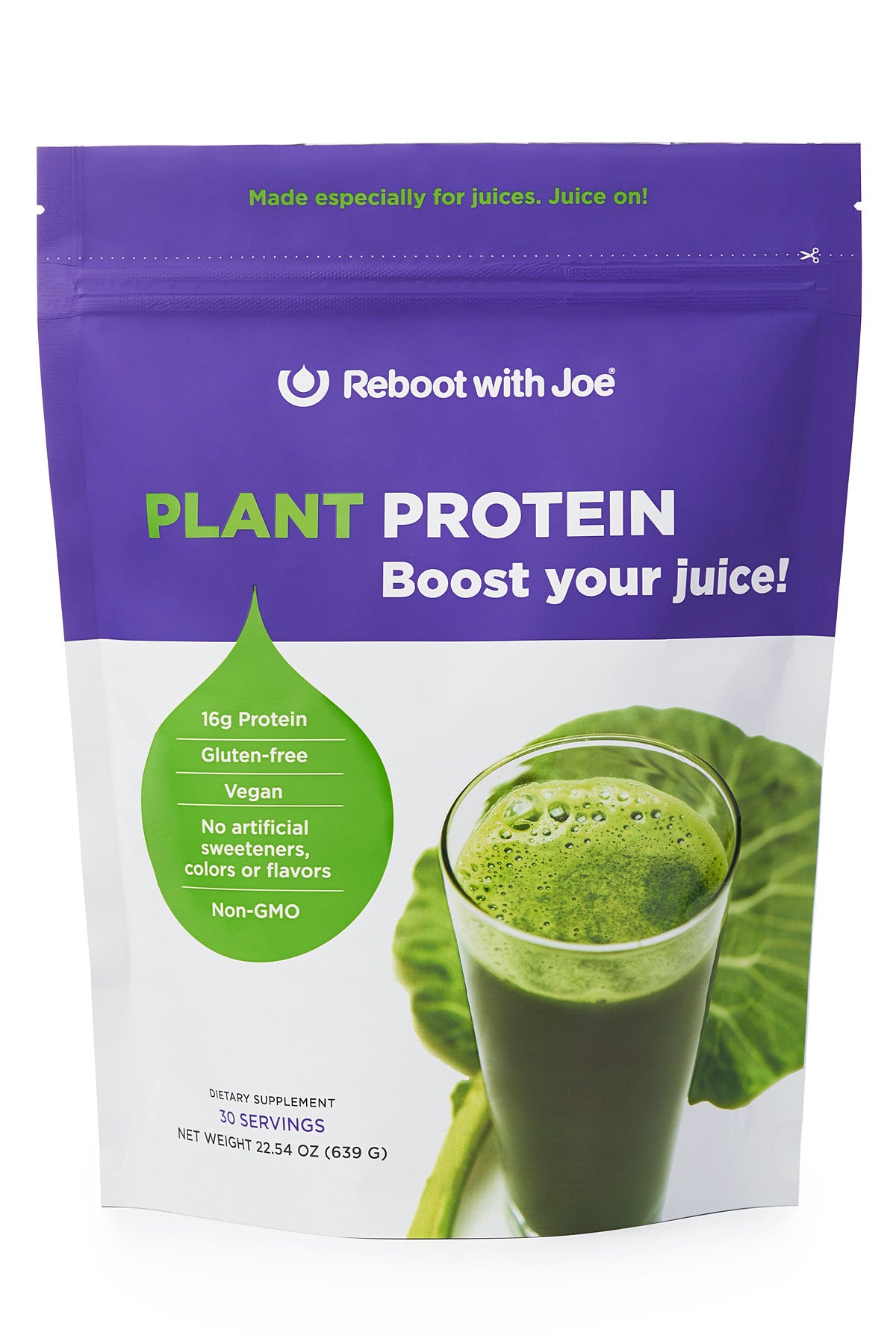 Reboot with Joe Plant Protein for Juices - 22.5 oz