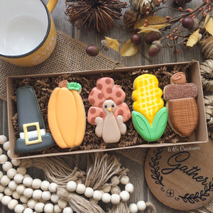 Assorted Thanksgiving 5 Cookie Set