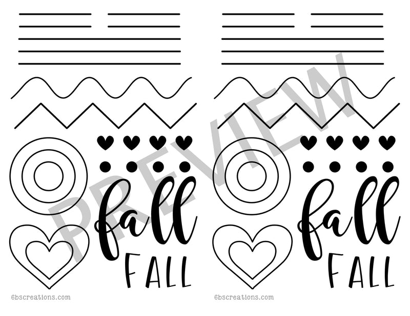 Fall Piping Practice Half Sheet