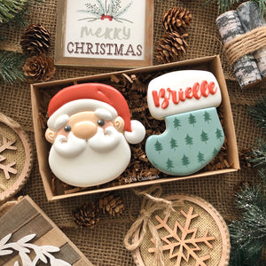 Christmas 2 Cookie Boxed Sets - Stocking
