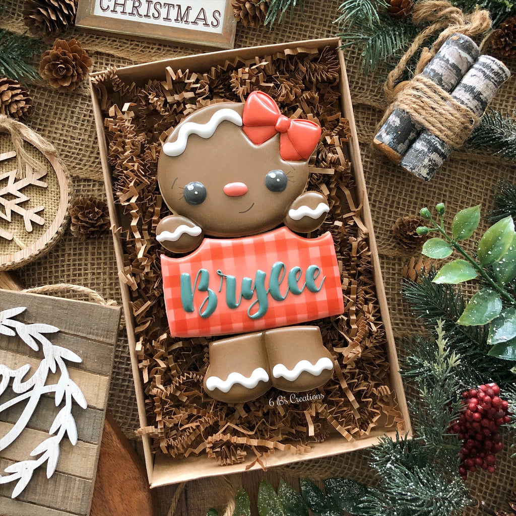 Christmas 3 Cookie Boxed Sets - Gingerbread