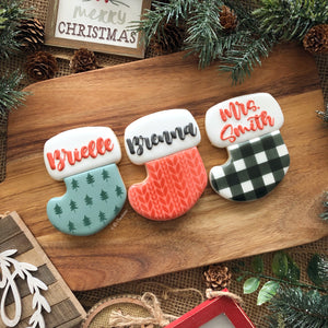 Christmas Individual Personalized Stocking Cookie