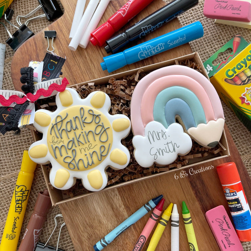 Teacher Appreciation Rainbow Cookie Set