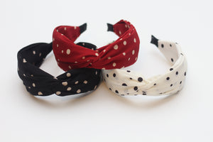 Polka dot Turban Headband