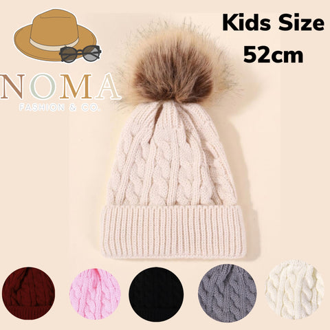 Single Pom Beanie for Kids
