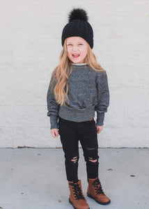 Single Pom Kids Beanie