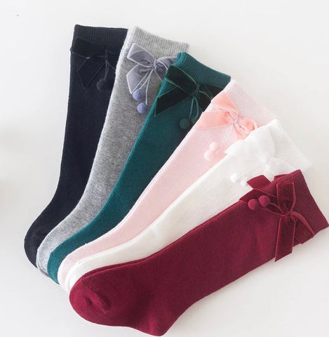 Mini Velvet Bow Socks