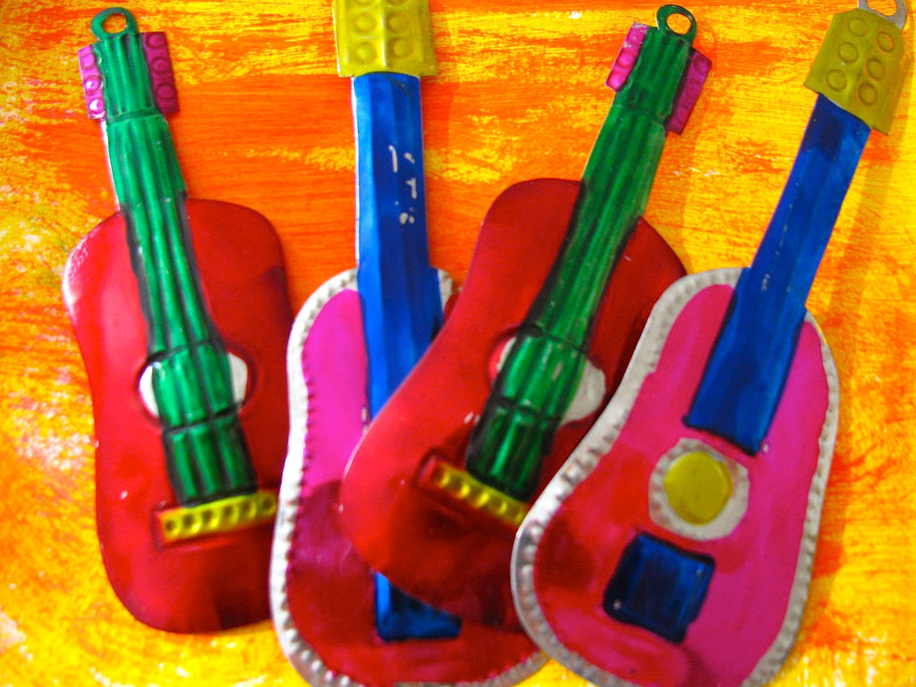 Guitar Tin Ornaments