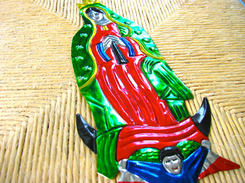 Virgen de Guadalupe Tin Ornament