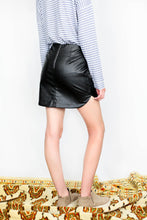 Load image into Gallery viewer, ROUND HEM FAUX LEATHER SKIRT