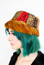 Load image into Gallery viewer, PHEASANT FEATHER HAT