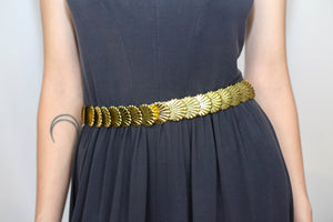 VINTAGE METAL SHELL BELT