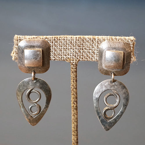 Metal Art Earrings