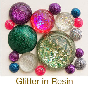 resin crafting glitter cabochons