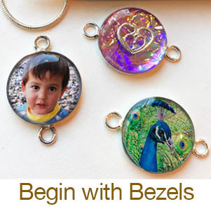 beginning resin jewelry making photos in bezels