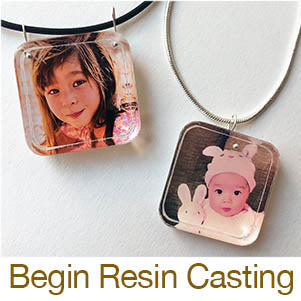 beginning resin casting jewelry making in molds