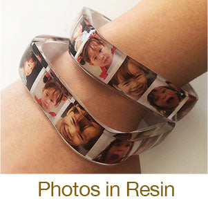 resin jewelry making casting in molds with photo strips to make bangle bracelets