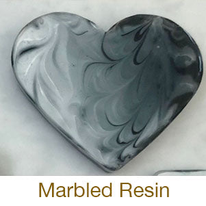 resin crafting black and white marbled tutorial