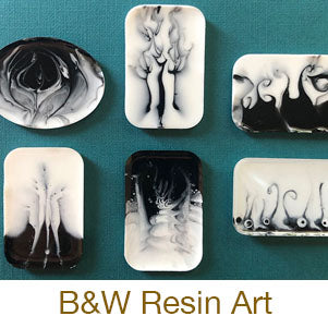 resin crafting black and white art resin tutorial