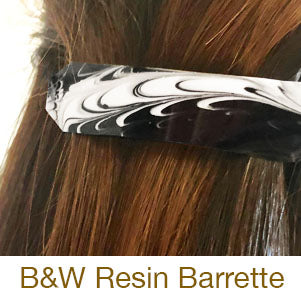 resin crafting barrette black and white tutorial