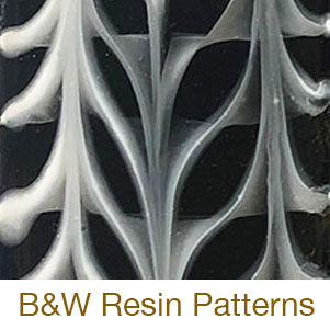 resin black and white tutorial
