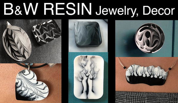 resin craft jewelry decor black white colorant art resin