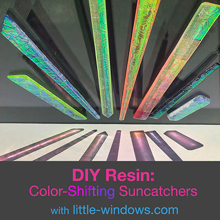 resin jewelry doming suncatchers dichro films refractions through window