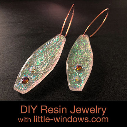 resin jewelry earring doming long texture film display