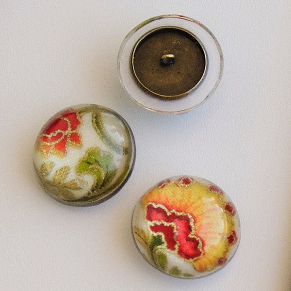resin fabric buttons cabochons quilting cotton