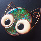 resin kitty cat jewelry dichro colorant Nunn Design Hoops