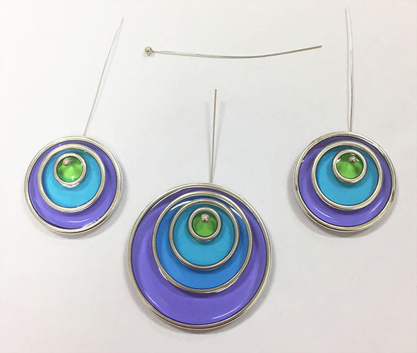 resin color jewelry Nunn Design Hoops