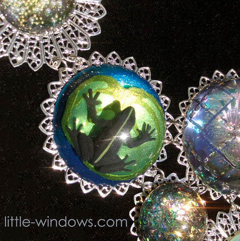 resin jewelry mount casting in bezel frog layers