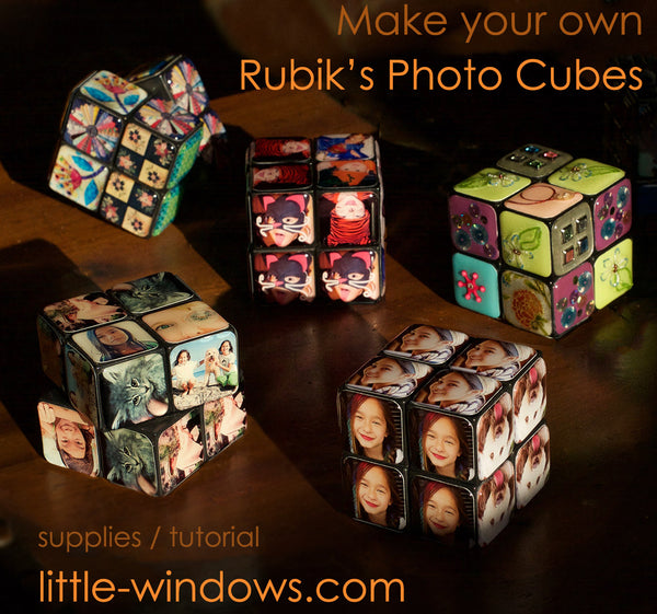 rubiks photo cube resin gift