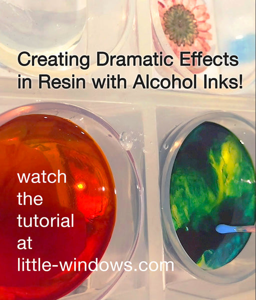 resin casting jewelry making alcohol inks photo jewelry dramatic effects