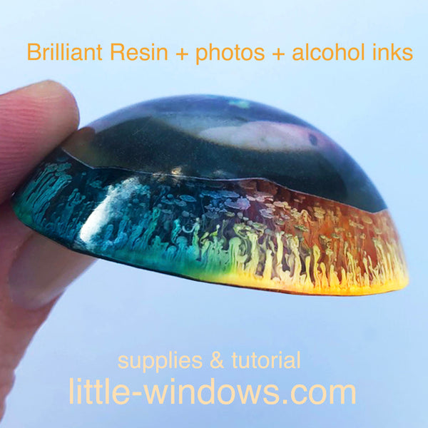 resin casting alcohol inks special effects jewelry making