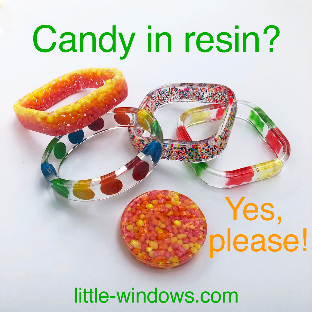 resin casting jewelry making candy sprinkles bangle bracelets