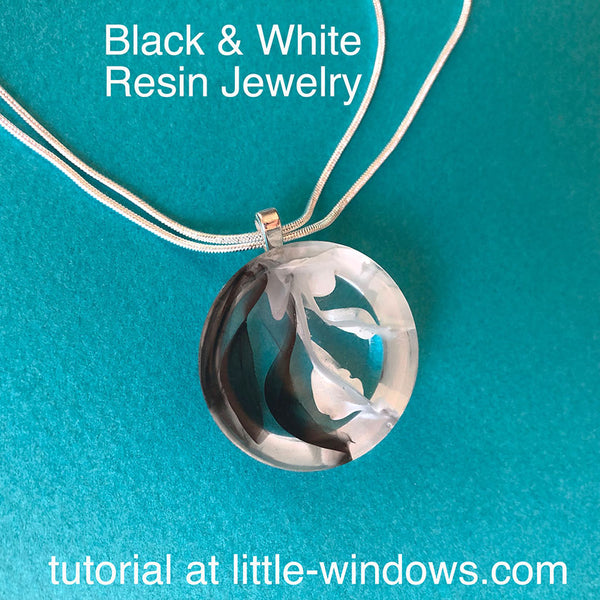 resin craft jewelry black white casting art resin