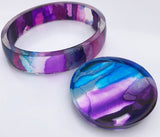resin casting alcohol inks bangle bracelet jewelry