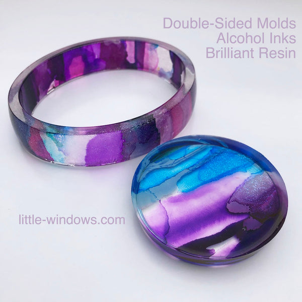 resin casting little windows alcohol inks jewelry making