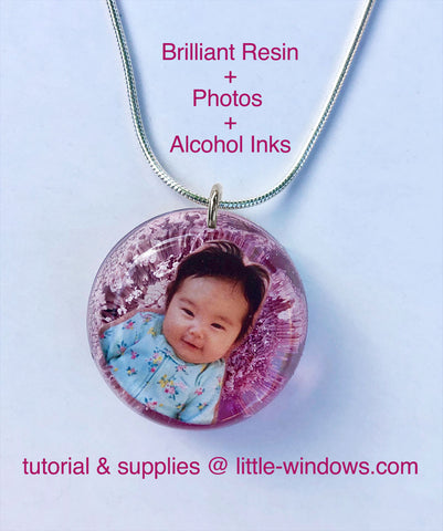 resin casting alcohol inks photo keepsakes jewelry making