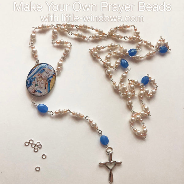 resin jewelry making tokens of faith tutorial beading wire wrap hail mary rosary