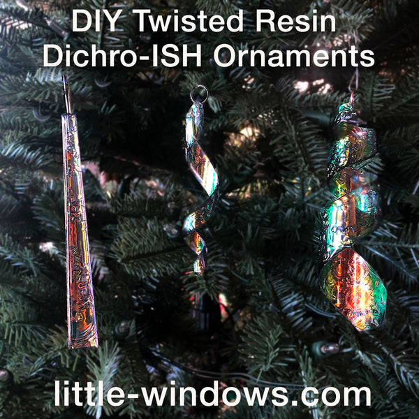resin jewelry ornaments dichro jumbo twisted resin