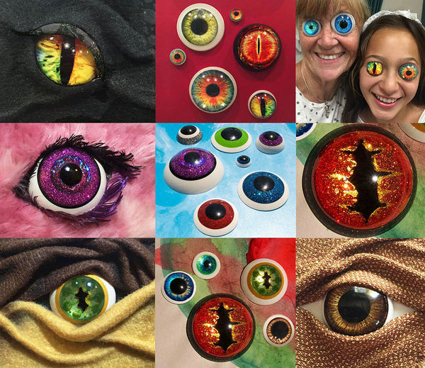 resin casting crafting eyes glitter costume dragons