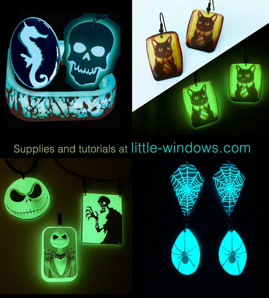 resin crafting jewelry making glow in the dark GITD casting