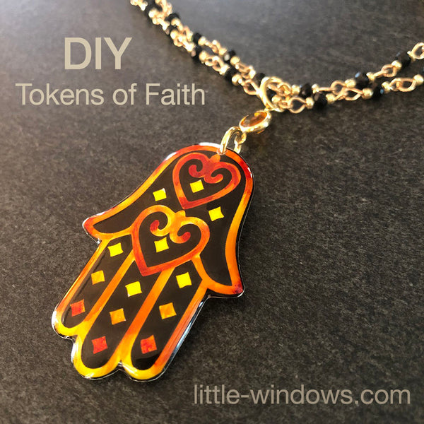 resin jewelry making tokens of faith tutorial beading wire wrap hamsa hand