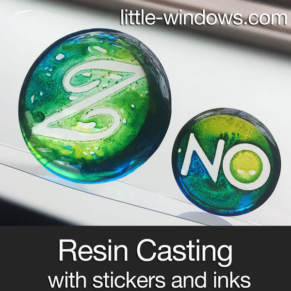 resin casting alcohol inks monogram jewelry making